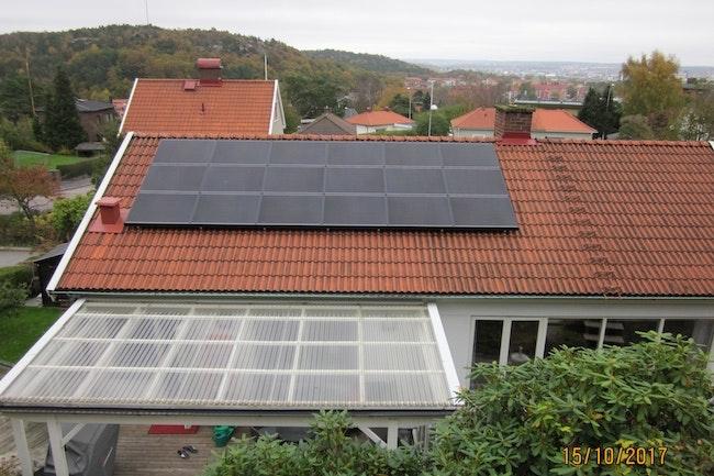 Bild på solceller i Göteborg