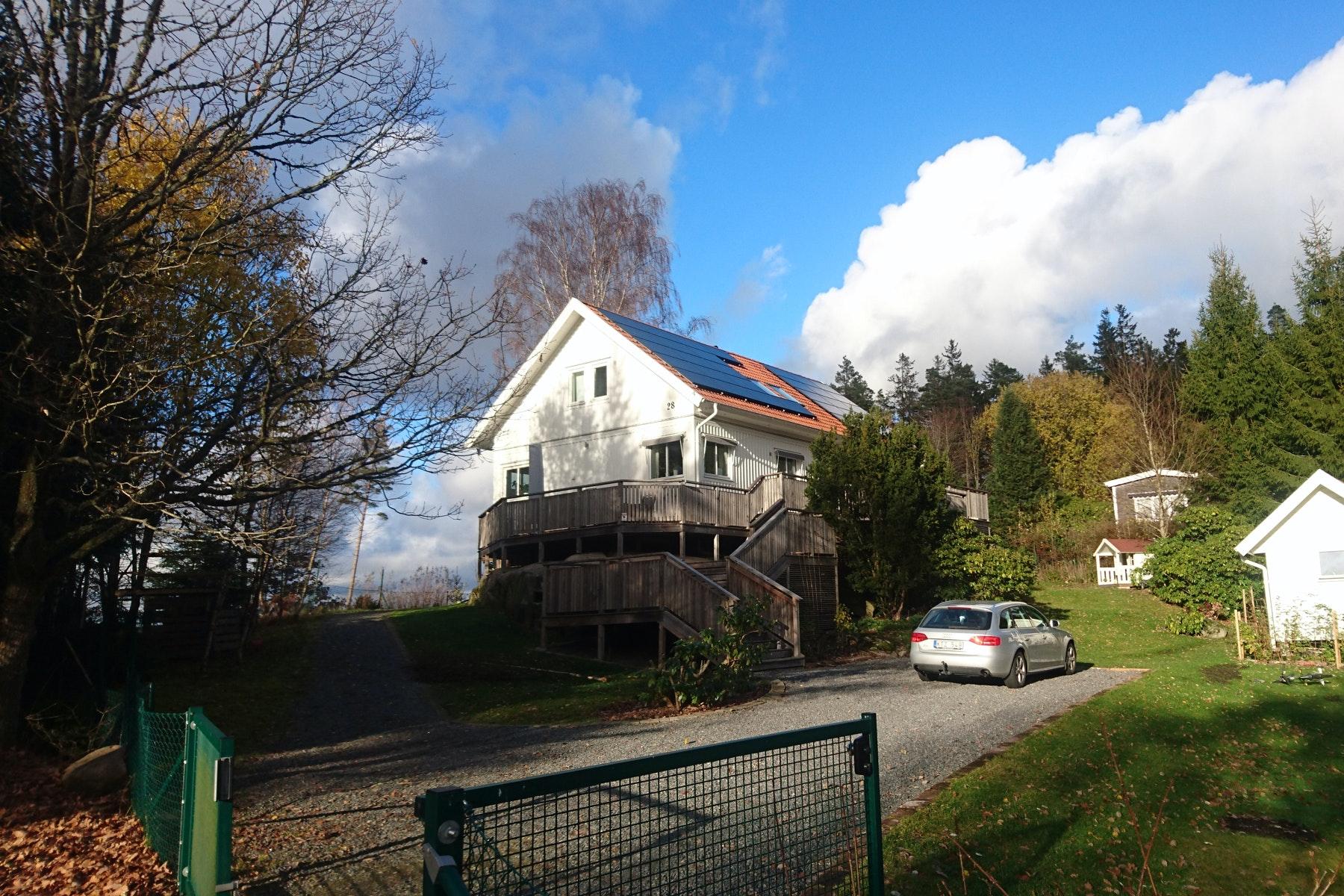 Bild på solceller i Landvetter