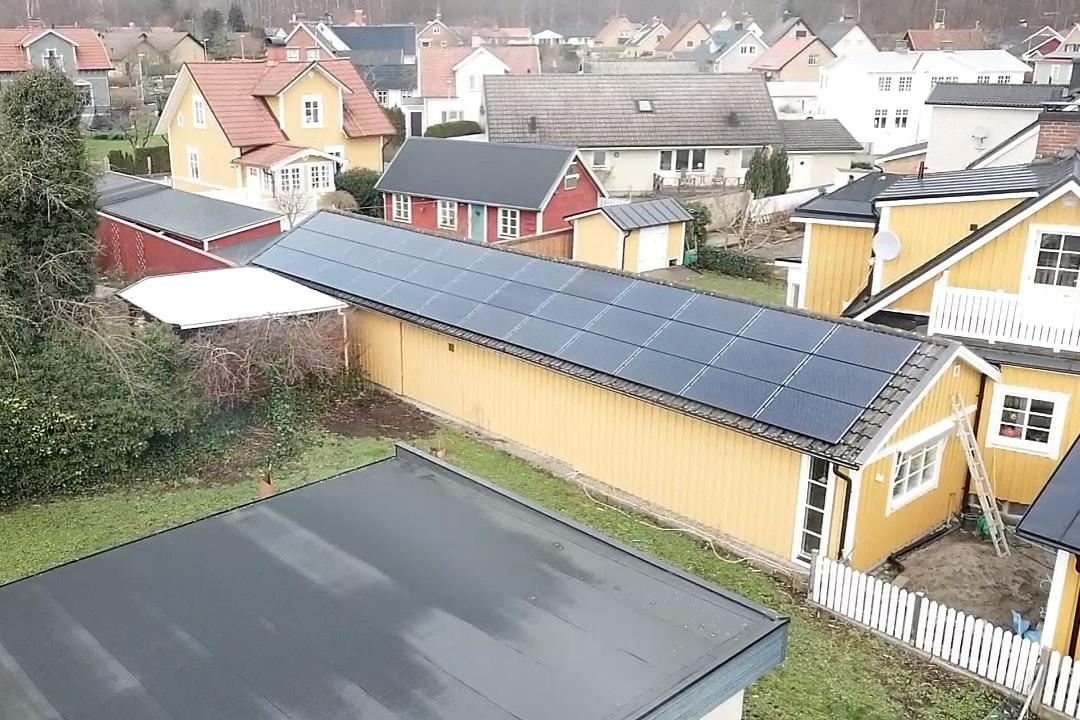 Bild på solceller i Sölvesborg