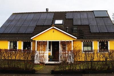 Bild på solceller i Oskarshamn