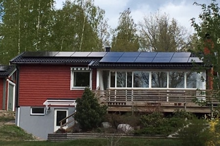 Bild på solceller i Julita