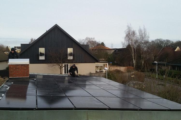 Bild på solceller i Ramlösa