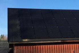 Bild på solceller i Karlsborg