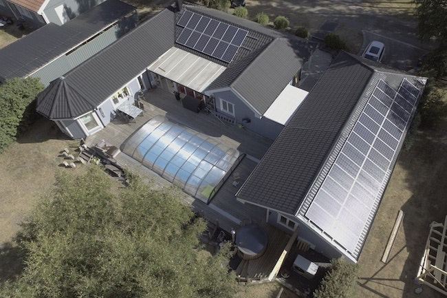 Bild på solceller i Munkebäck