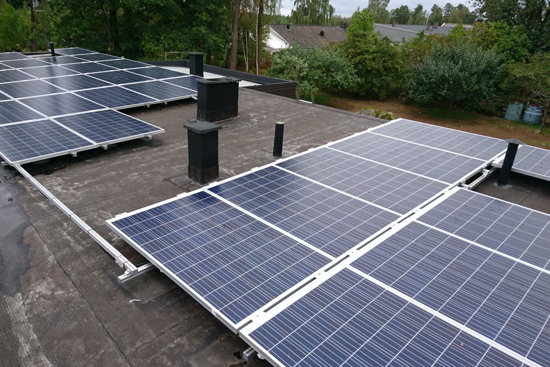 Bild på solceller i Växjö