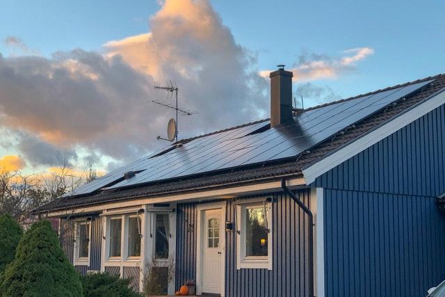 Bild på solceller i Åseda