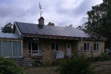 Bild på solceller i Tived