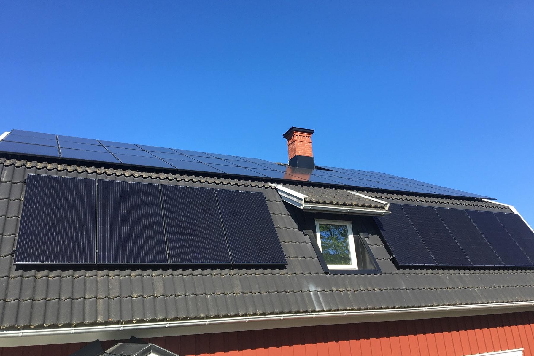 Bild på solceller i Kristinehamn