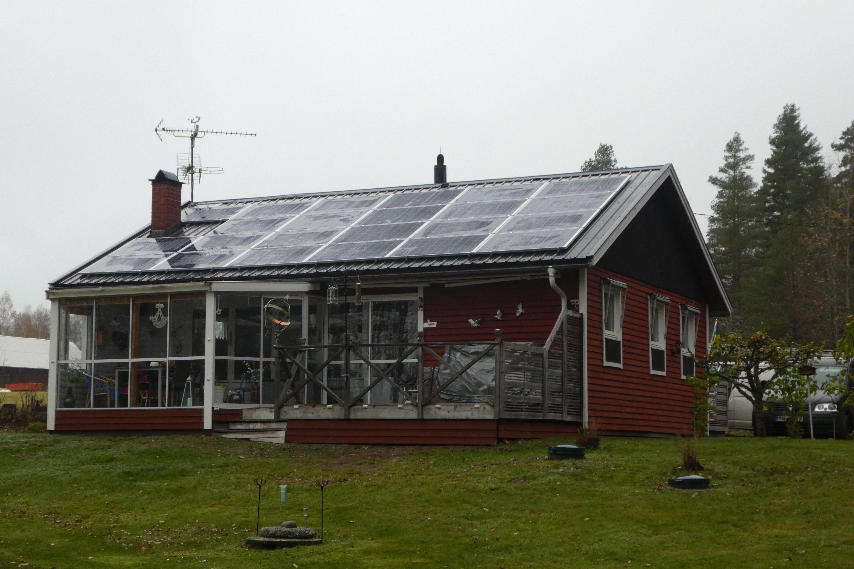 Bild på solceller i Norrköping