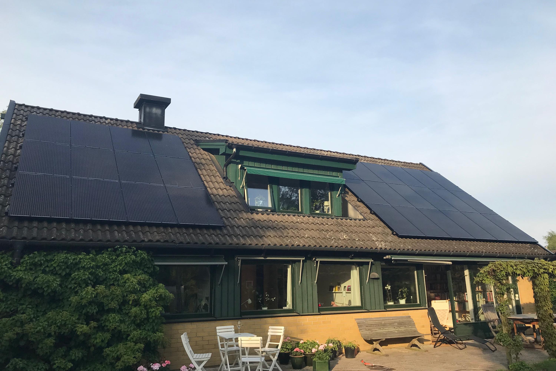 Bild på solceller i Ljunghusen