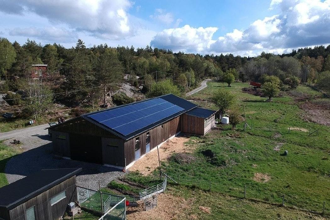 Bild på solceller i Harestad
