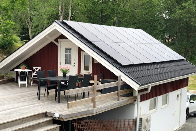 Bild på solceller i Lerum