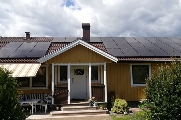 Bild på solceller i Örby