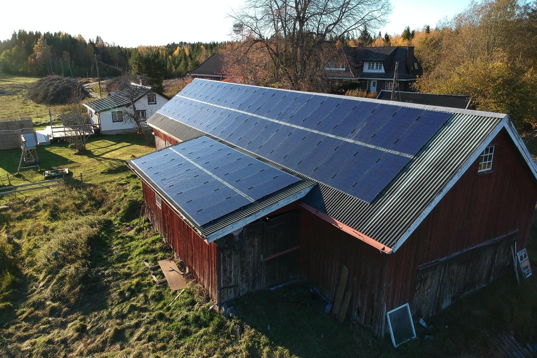 Bild på solceller i Trollhättan