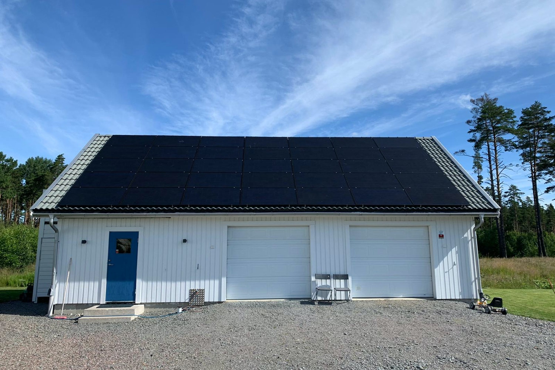 Bild på solceller i Uppsala