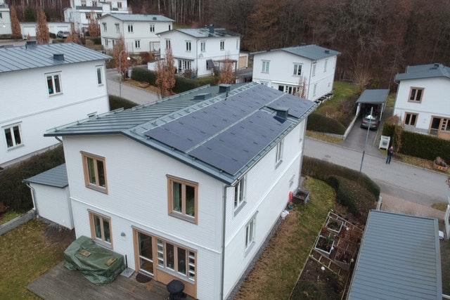 Bild på solceller i Mölndal