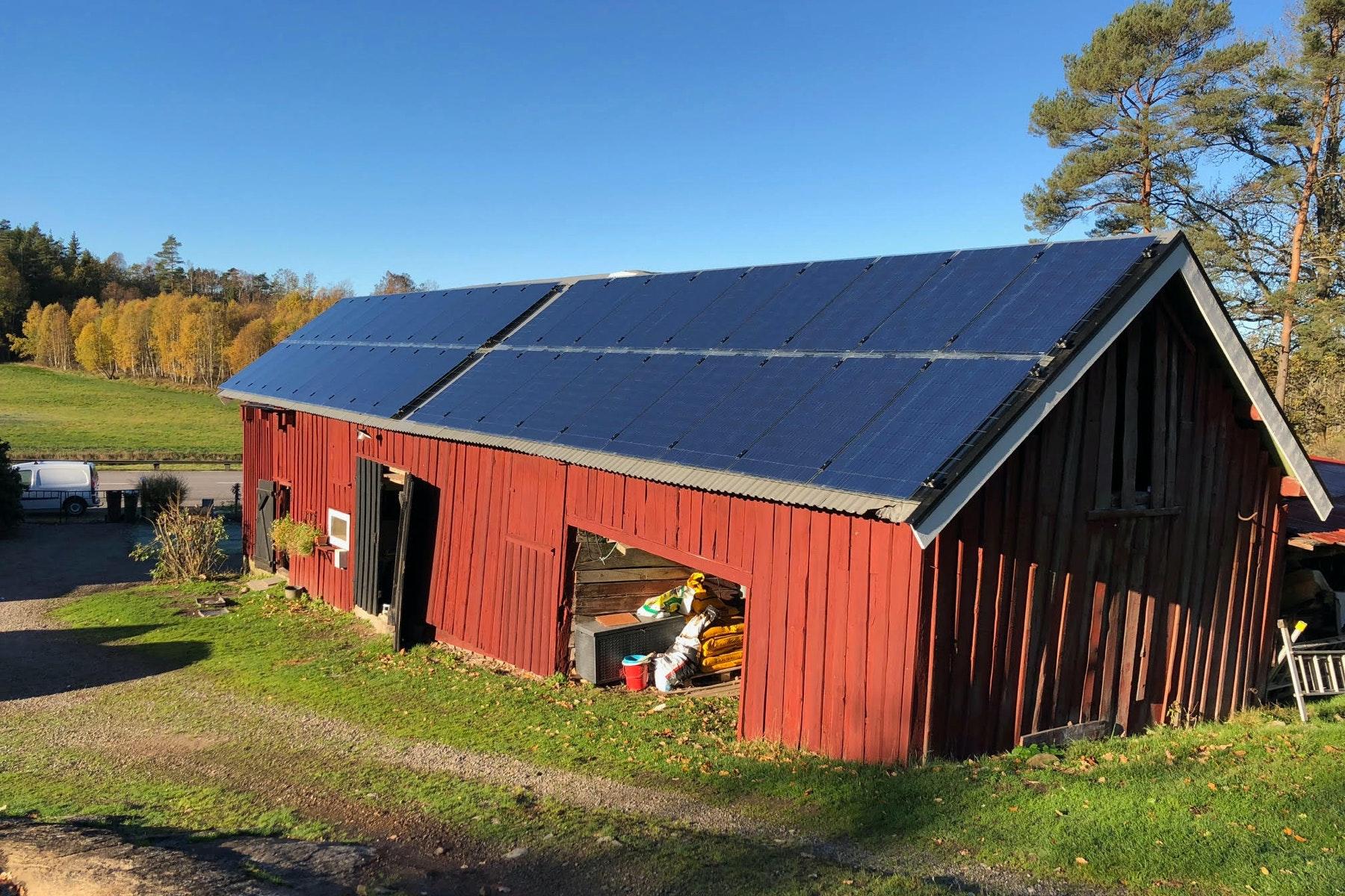 Bild på solceller i Fjärås