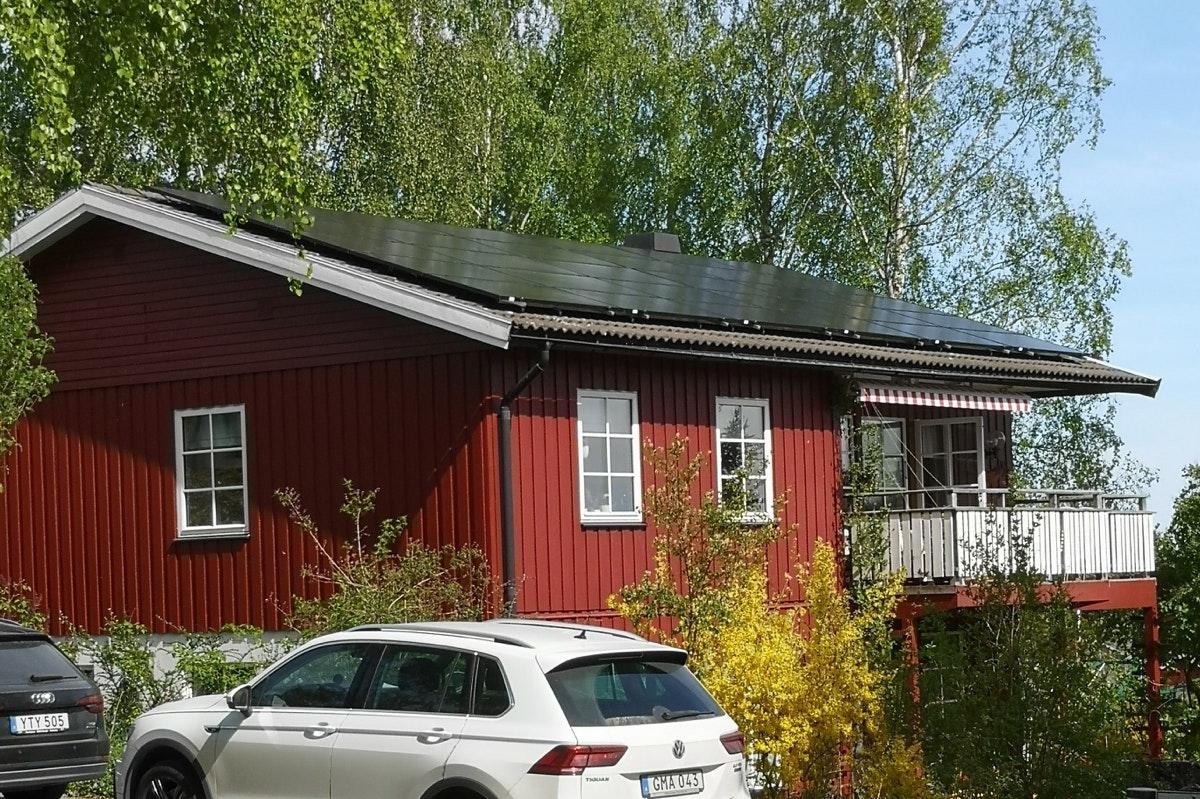 Bild på solceller i Nyköping
