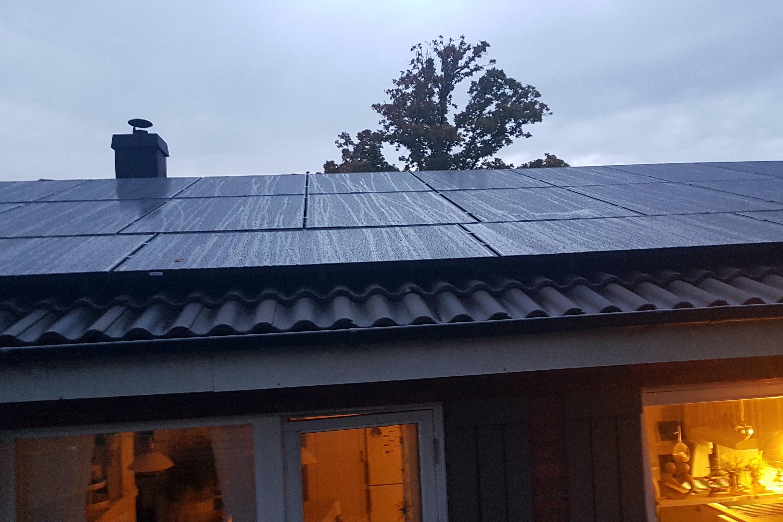 Bild på solceller i Onsala