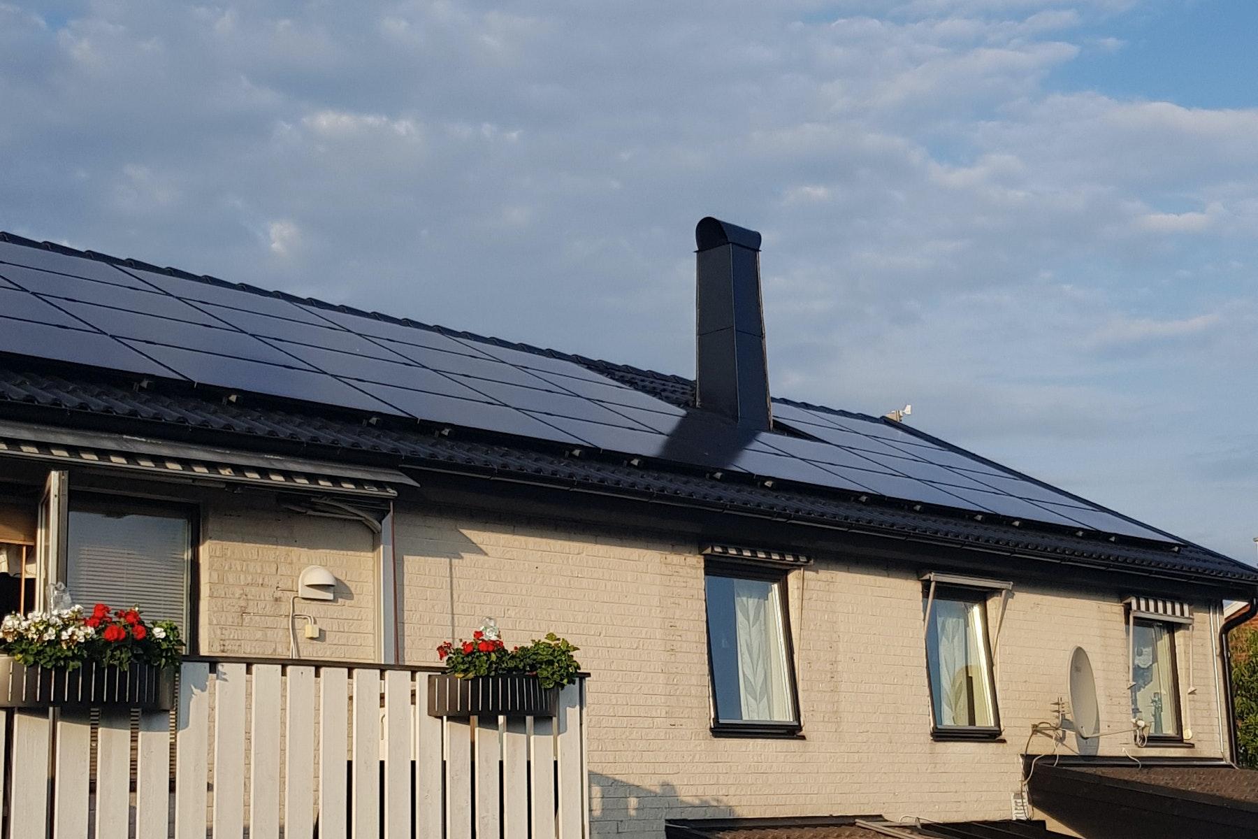 Bild på solceller i Falkenberg