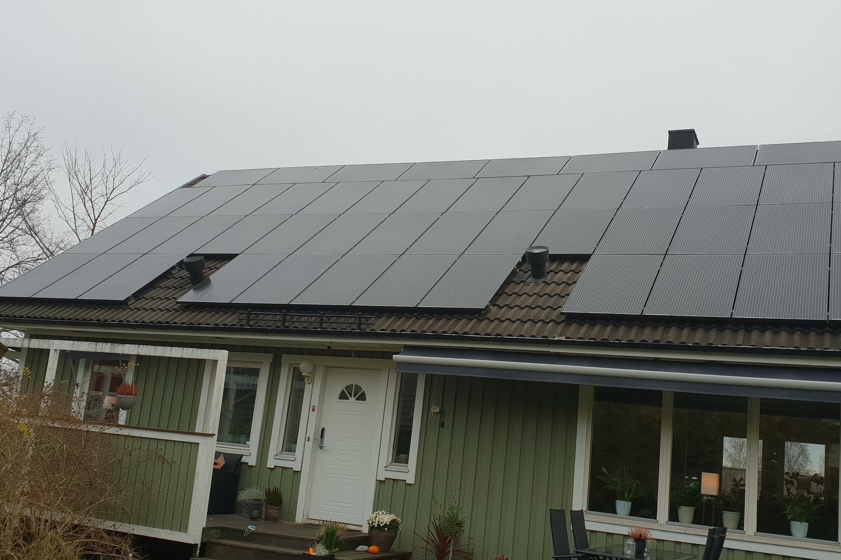 Bild på solceller i Trångsund