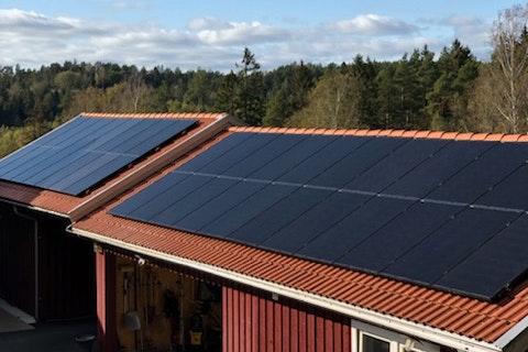 Bild på solceller i Kungsbacka