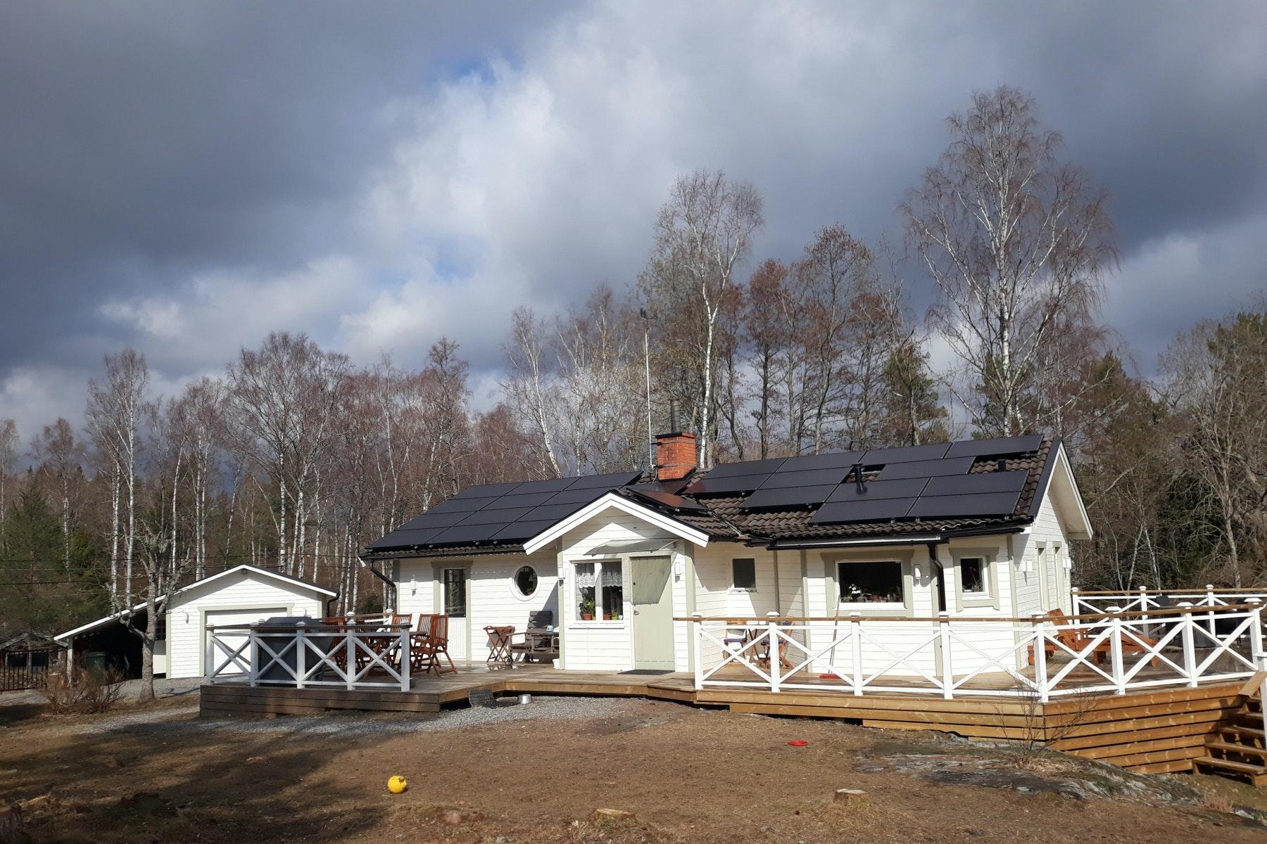 Bild på solceller i Norrtälje