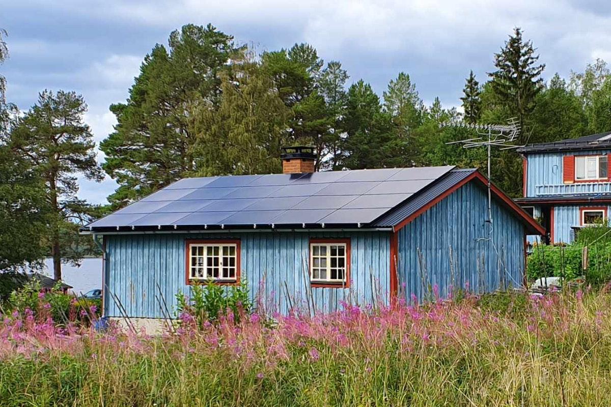 Bild på solceller i Raftälven