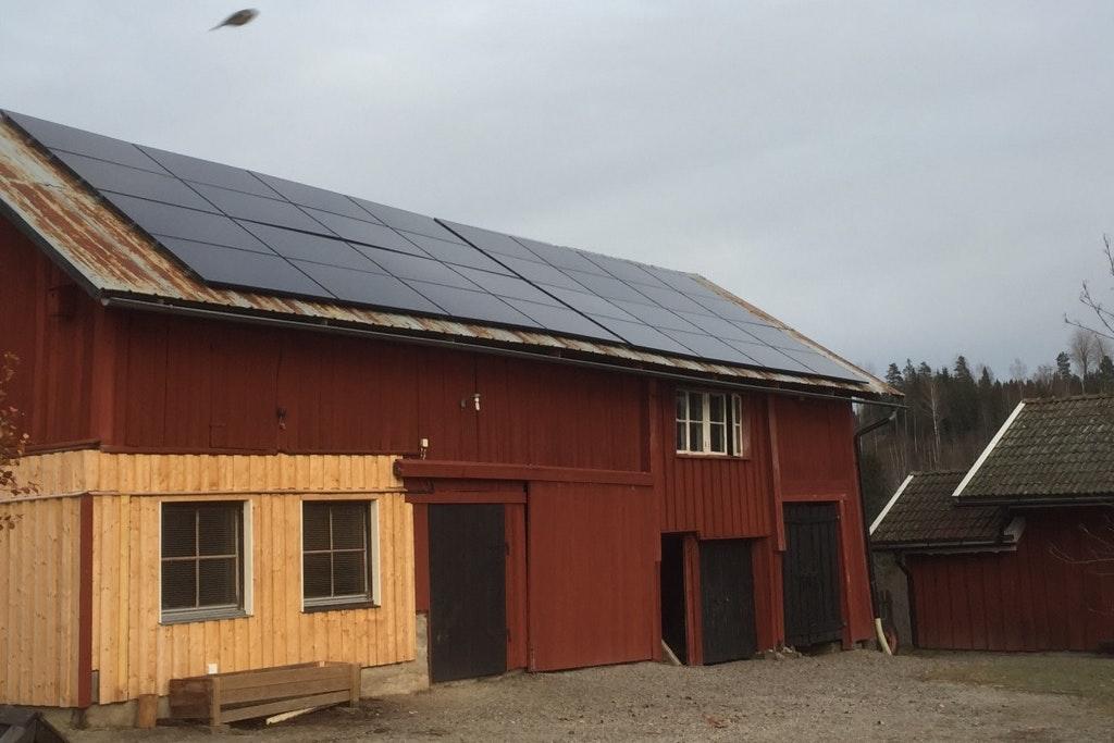 Bild på solceller i Skillingsfors