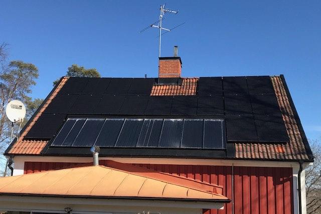 Bild på solceller i Sollentuna