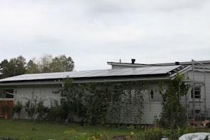 Villa med solceller i Kungsbacka