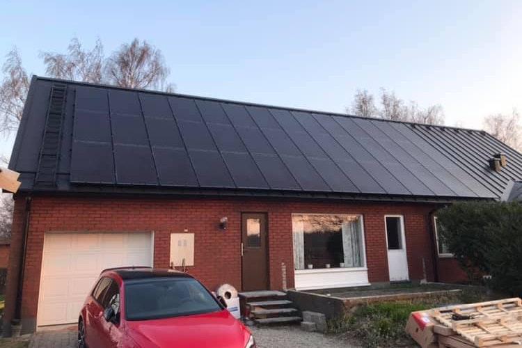 Bild på solceller i Lund