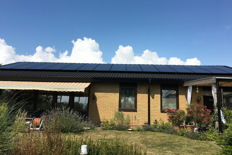 Bild på solceller i Trelleborg