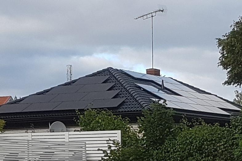 Bild på solceller i Eskilstuna